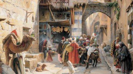 Gustav Bauernfeind, A Street Scene, Damascus kopie